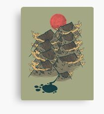 There's Chocolate in Those Mountains Canvas Print