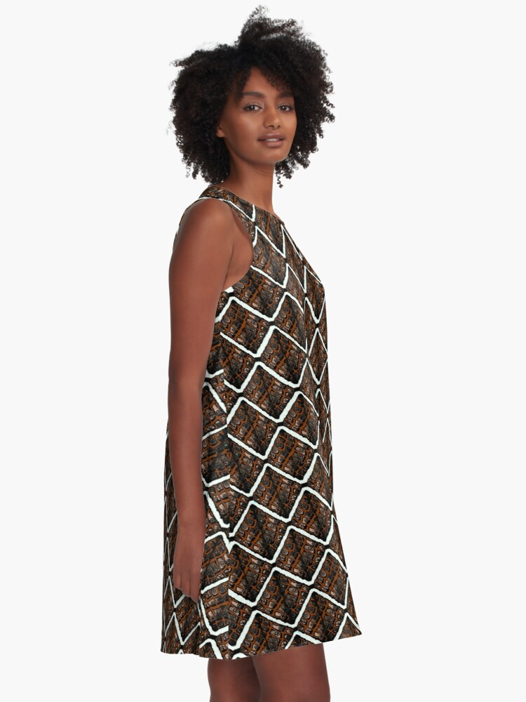 Alternate view of Mapipi and coconut jelly  A-Line Dress