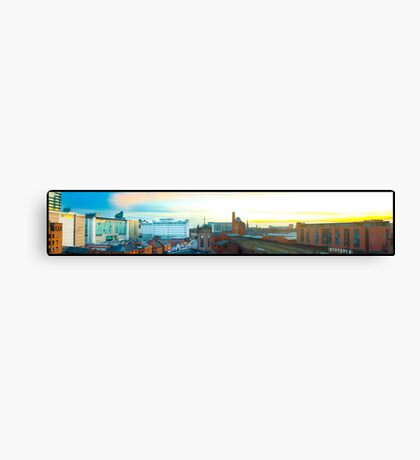 Manchester Sunset Skyline Canvas Print
