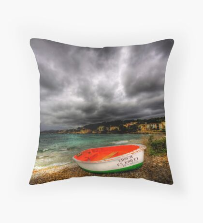 Little Row Boat Throw Pillow