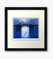dawn bridge Framed Print