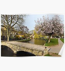 Bourton-on-the-Water  Cotswolds  UK Poster
