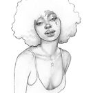 Sassy girl with afro by MadliArt