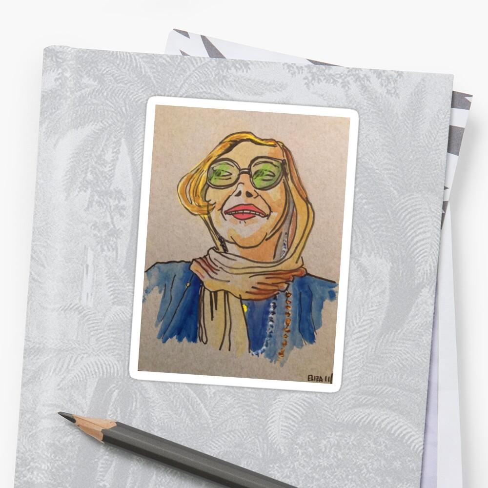 Debonair Lady in a Head-scarf Sticker