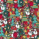 Merry Christmas Pattern by steveswade