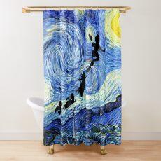 Peter Pan Starry Night Shower Curtain
