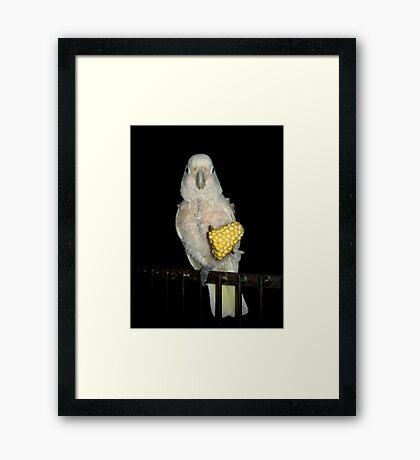 Margaret and the Corn Framed Print