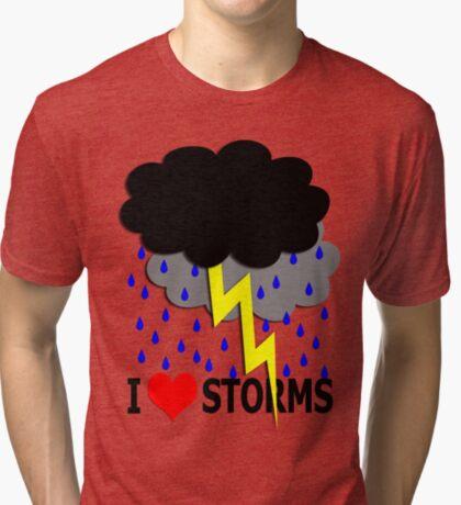 i love storms Tri-blend T-Shirt