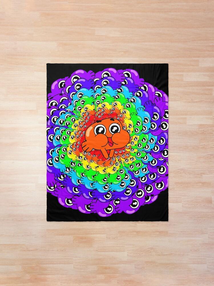 Alternate view of Psychedelic Darwin Watterson Comforter