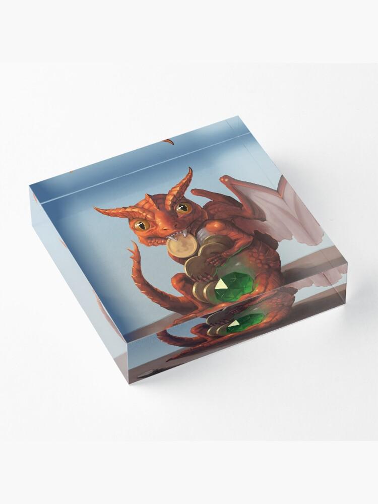 Alternate view of Baby Dragon | Digital Illustration Acrylic Block