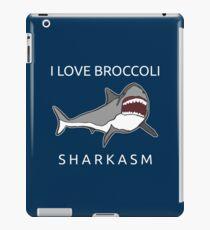 Funny Shark Pun - I Love Broccoli Sharkasm iPad-Hülle & Klebefolie