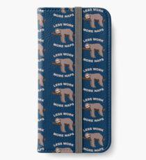 Less Work More Naps - Funny Sloth iPhone Flip-Case/Hülle/Klebefolie