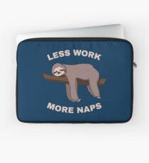 Less Work More Naps - Funny Sloth Laptoptasche