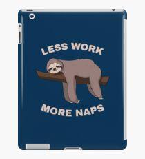 Less Work More Naps - Funny Sloth iPad-Hülle & Klebefolie