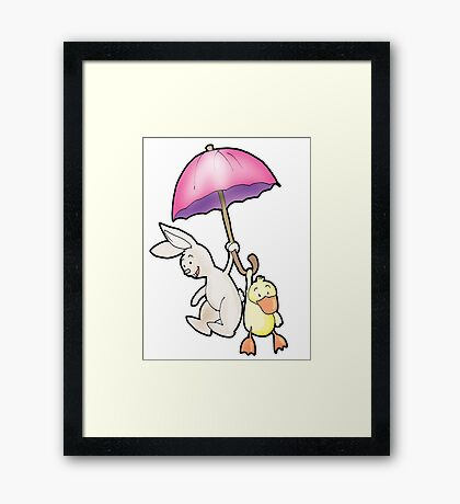 under my umbrella Framed Print