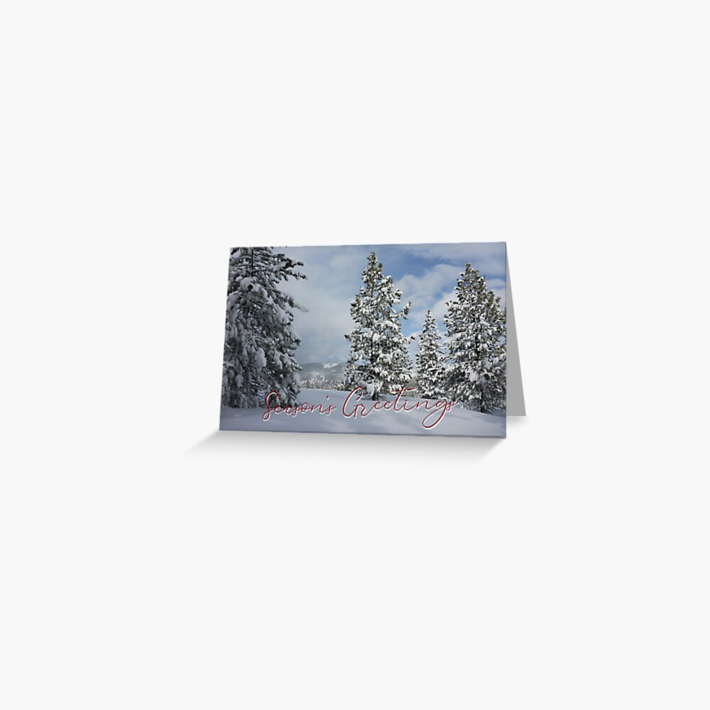 Mountains and Trees of Snow Holiday Card Greeting Card