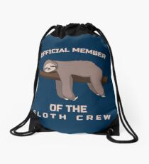 Official Member Of The Sloth Crew - Team Sloth Turnbeutel