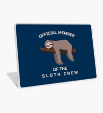 Official Member Of The Sloth Crew - Team Sloth Laptop Folie