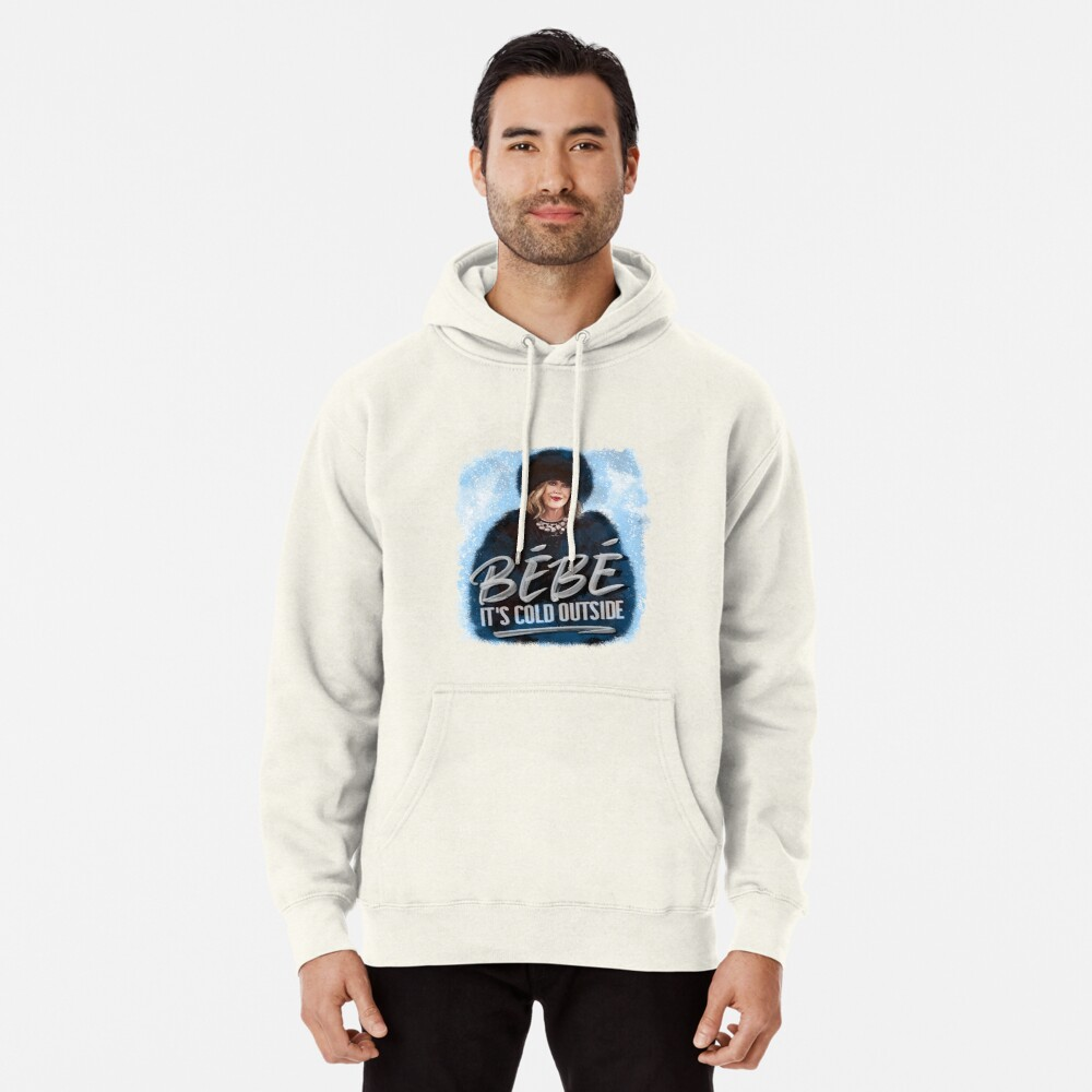 ORIGINAL ARTIST Moira Rose Holiday Bebe It's Cold Outside  Pullover Hoodie
