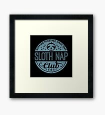 Sloth Nap Club Napping Together - Team Sloth Gerahmtes Wandbild