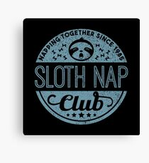 Sloth Nap Club Napping Together - Team Sloth Leinwanddruck