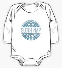 Sloth Nap Club Napping Together - Team Sloth Baby Body Langarm