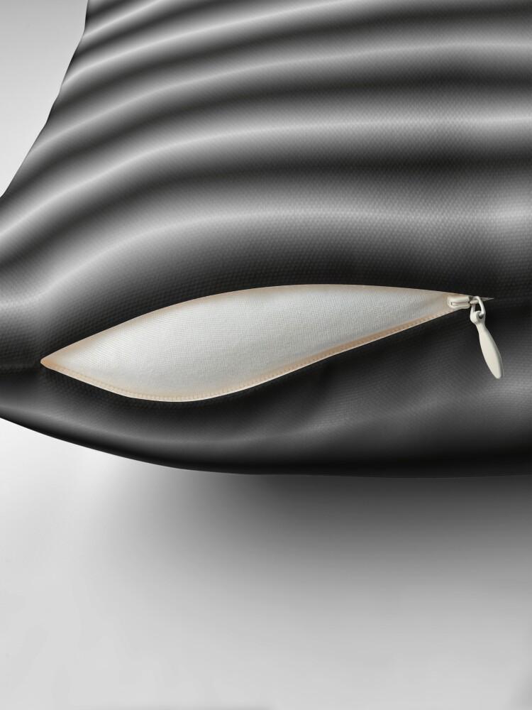 Alternate view of Vibrating Horizontal Bars - Gray / Grey Throw Pillow