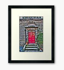 Red Chapel Door Framed Print