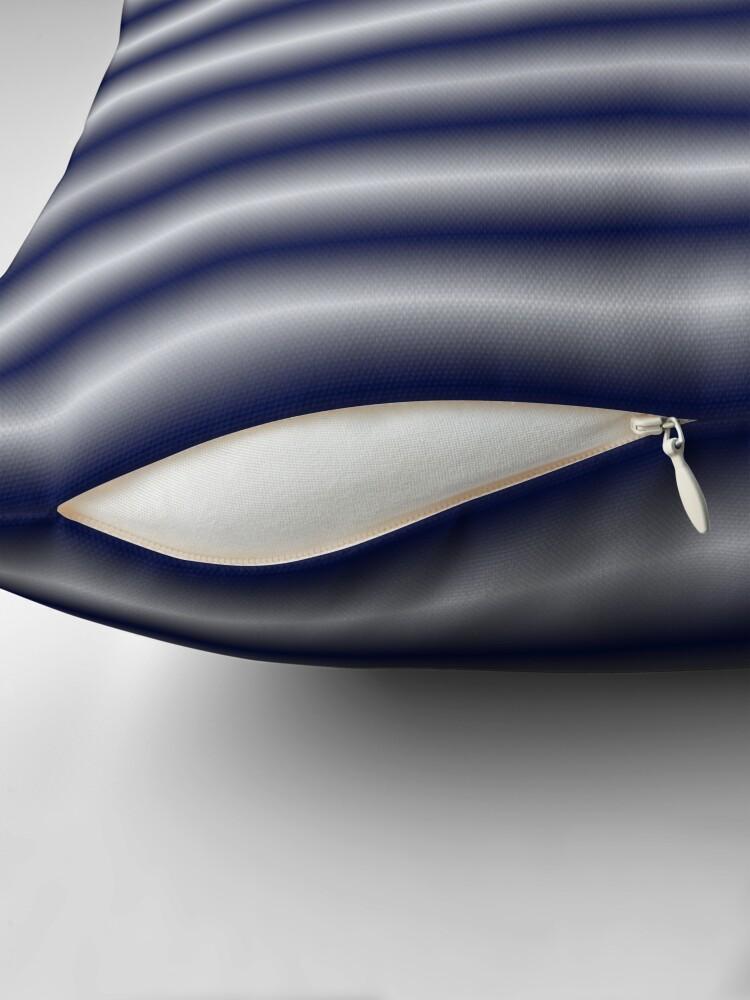 Alternate view of Vibrating Horizontal Bars - Navy Blue Throw Pillow