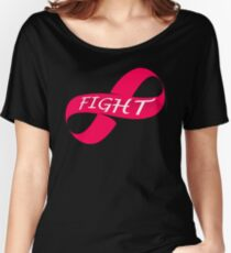 Infinity Fight Breast Cancer Women's Relaxed Fit T-Shirt