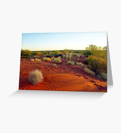 Red sands of the outback , Australia Greeting Card