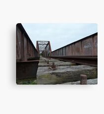 Crookwell Line - Wollondilly River Bridge (1) Canvas Print