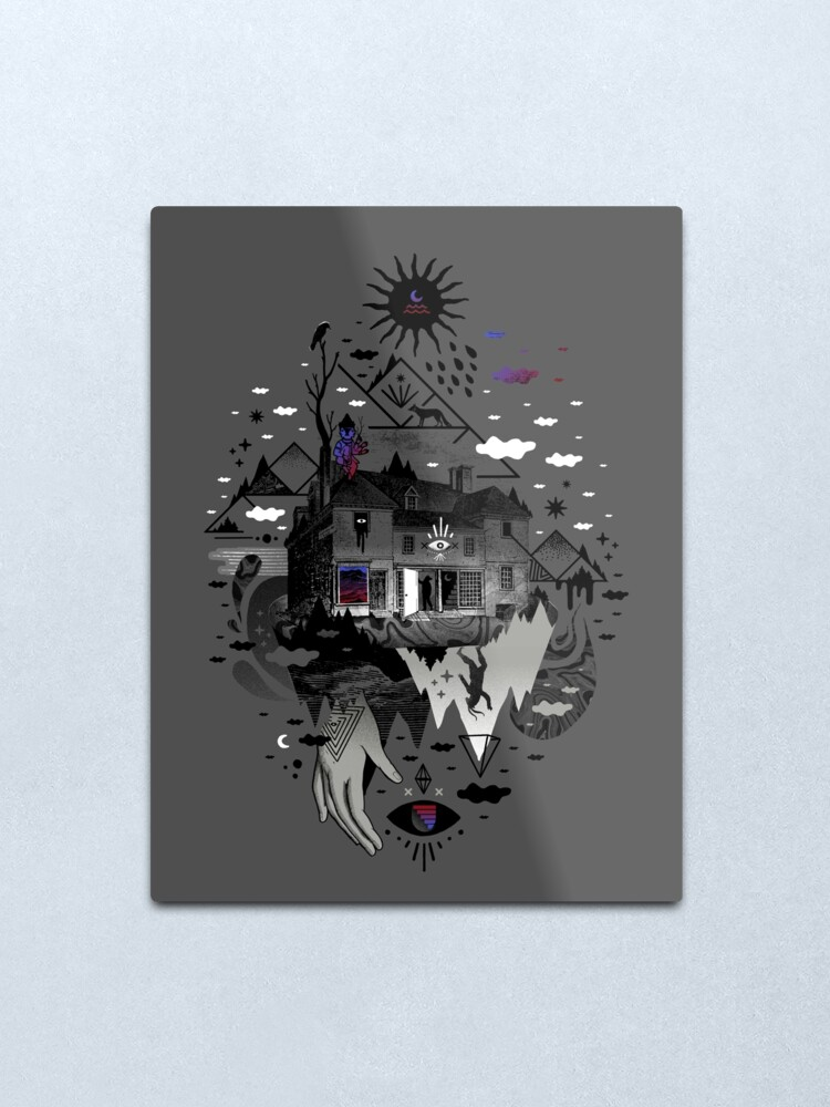 Alternate view of House is Not a Home Metal Print