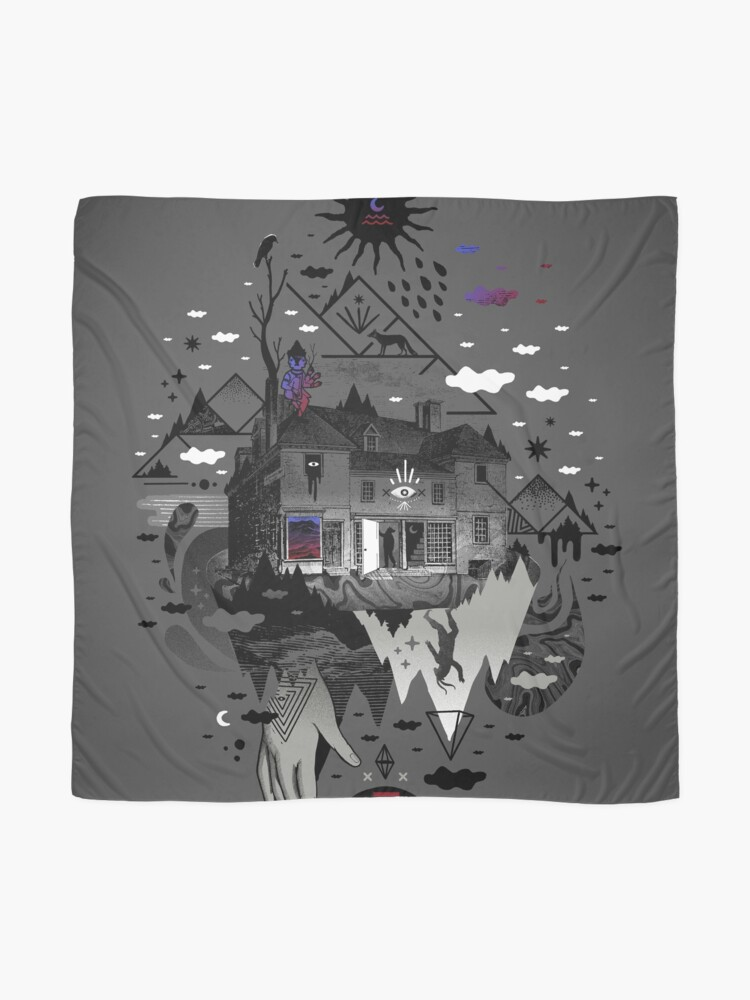 Alternate view of House is Not a Home Scarf