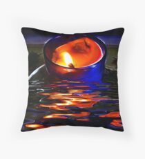 The Burning Candle Throw Pillow