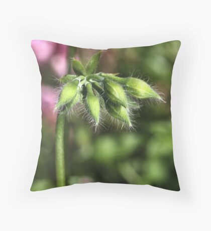 Buddies about to Bloom Throw Pillow