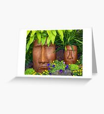 Tiki Greeting Card