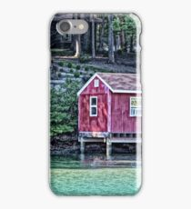 Red Boat House iPhone Case/Skin