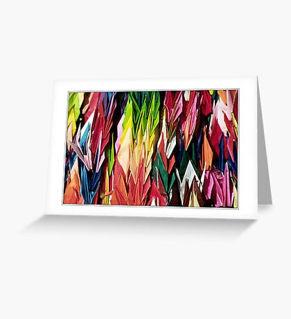 Paper Cranes Greeting Card
