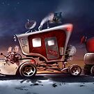 My ten wheel house (christmas version) by DanielVijoi