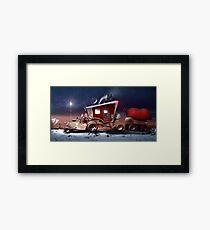 My ten wheel house (christmas version) Framed Print