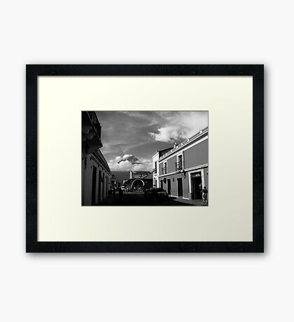 Agua Looking over Antigua Framed Print