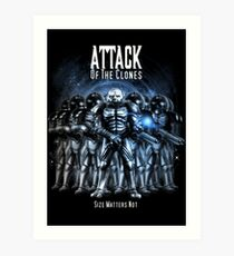 Sontaran's: Attack of the Clones - Size Matters Not Art Print
