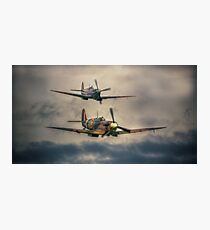 Spitfire Flypast Photographic Print