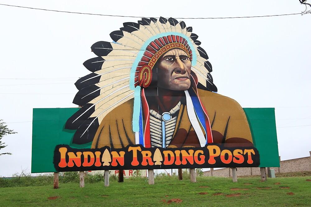 Route 66 - Oklahoma Trading Post by Frank Romeo
