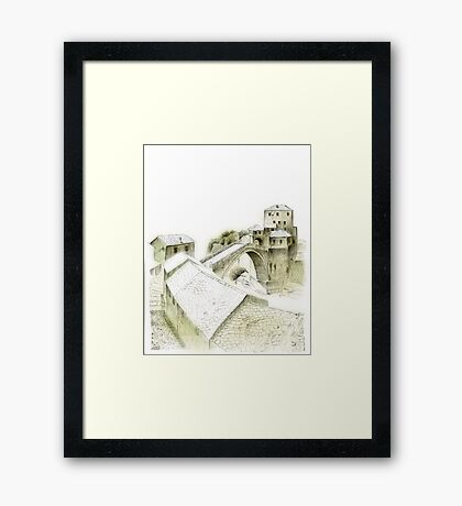 Mostar, old bridge Framed Print