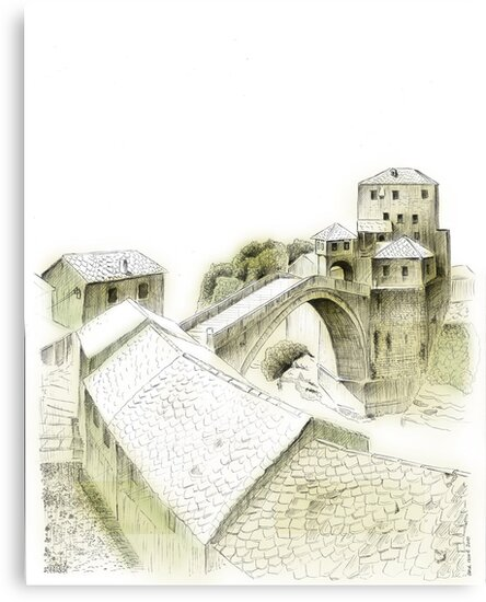 Mostar, old bridge by Emir Isovic