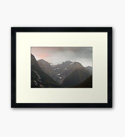 Sunrise in Milford Sound, New Zealand Framed Print