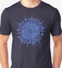 Heart Centred Mandala - blue print Unisex T-Shirt