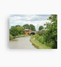 The Grand Union Canal at Blisworth. Canvas Print